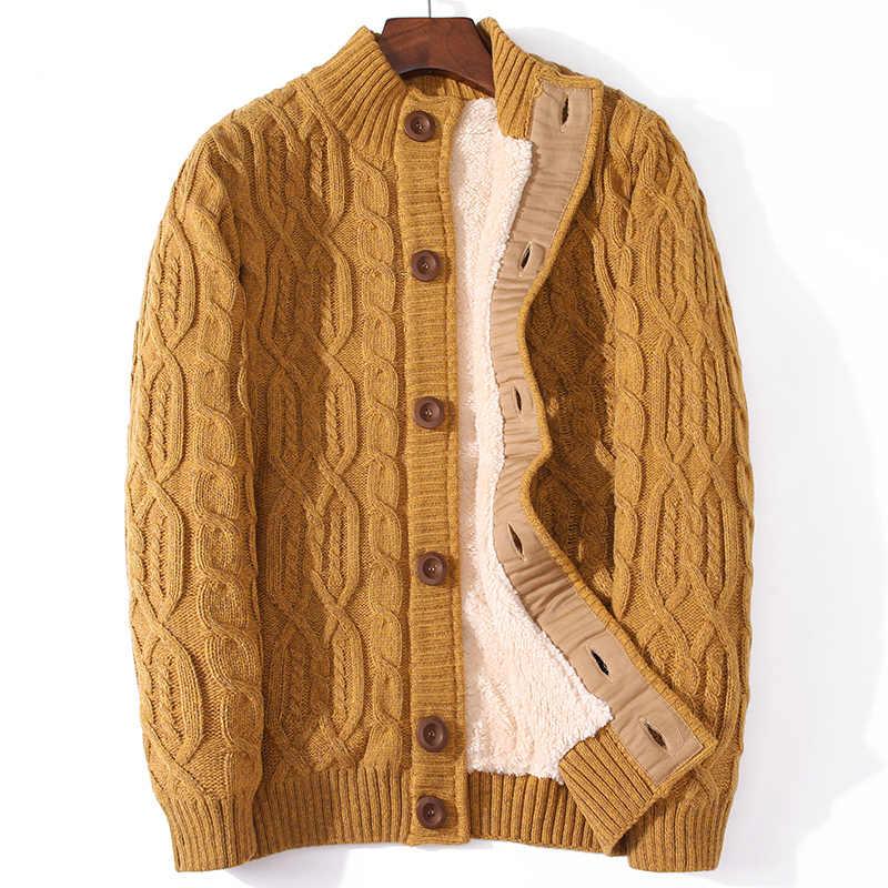 플러스 사이즈 울 스웨터 겨울 코트 남성 의류 2020 니트 맞는 두꺼운 따뜻한 카디건 남성 점퍼 당겨 옴므 Hiver SL237