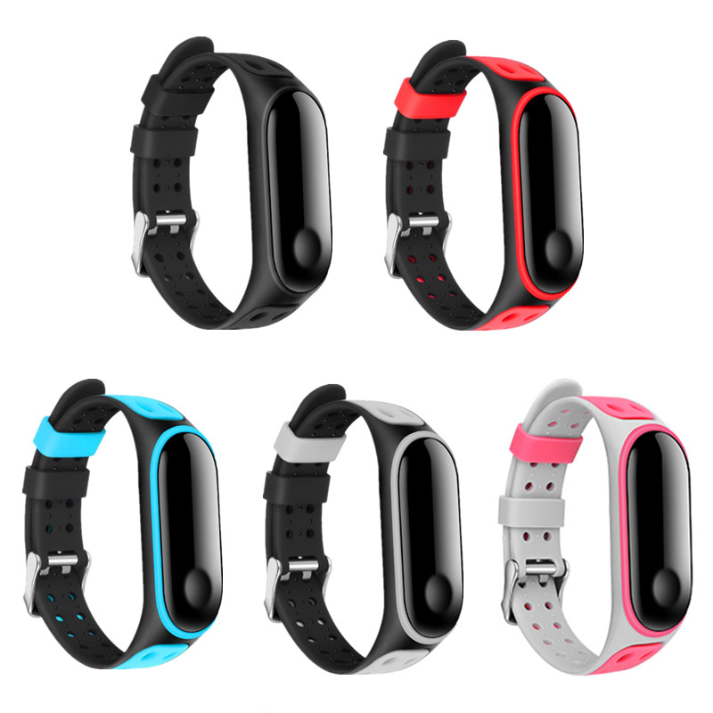 Sport Mi Band 4 3 Bracelet Wrist Strap For Xiaomi Mi Band3 4 Strap Silicone Miband 3 4 Smart Watch Accessories Mi Band4 Strap