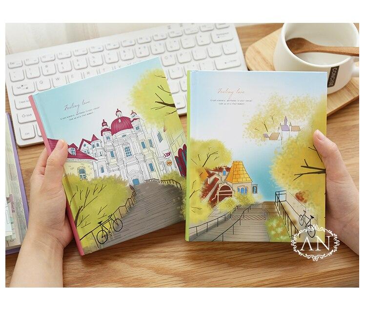 Caderno colorido coreano kawaii, estudantes escrevendo bloco de  notas, planejador de desenho scrapbooking livro grossoCadernos   -