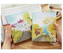 Kawaii קוריאני צבעוני מחברת, סטודנטים כתיבה פנקס, ציור מתכנן רעיונות עבה ספר