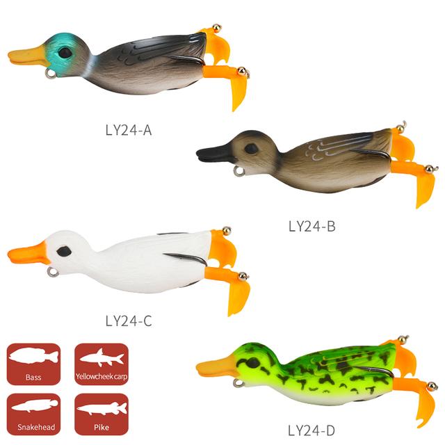 Pike Duck Soft Fishing Lure Set 4pcs