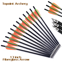 13/16/18/20-Inch Crossbow Bolt glassfiber Arrows Green/White Feather Replaceable Arrowhead For Arrows for Bow Hunting Archery