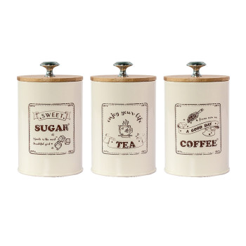 Tea Coffee Sugar Storage Jars Wooden Lid Sealed Box Kitchen Metal Canister Tin Jar Loose Grain Cereals Candy Organizer Container недорого