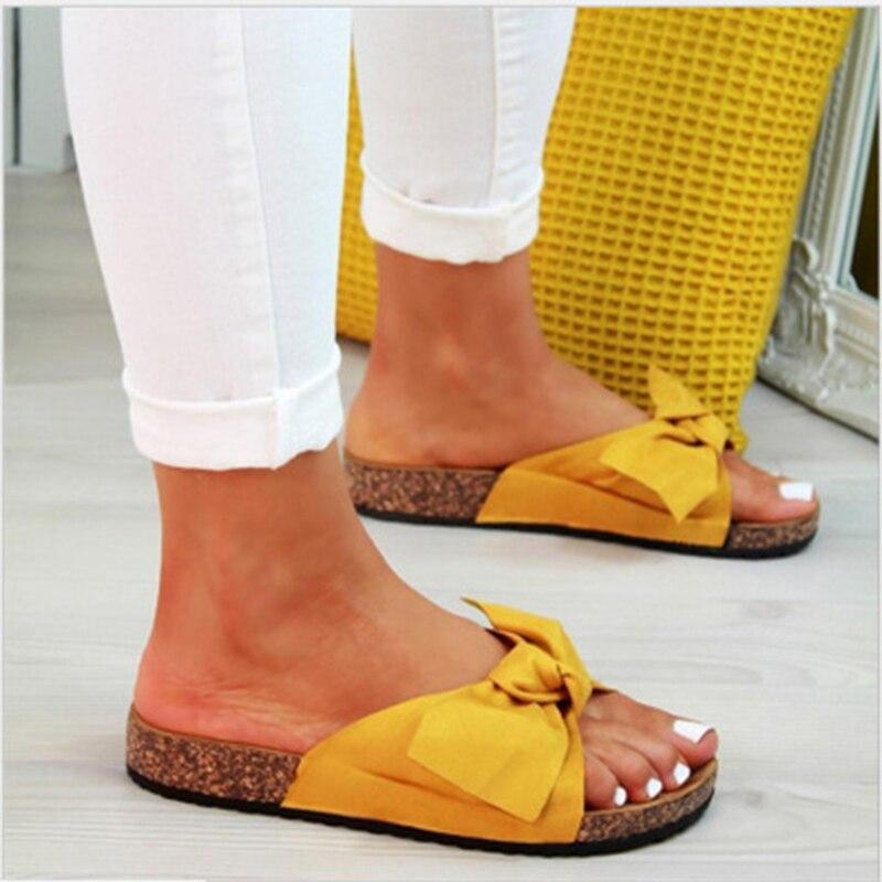 Sandalias de verano para mujer zapatos moda arco suave Slip On Sliders Sandalias planas Zapatos de playa Mujer Tallas grandes 43 sandalias de mujer Vinchas de flores de cristal rosa y AB de moda, diadema redonda con diamantes de imitación para mujer, accesorios capilares de lujo