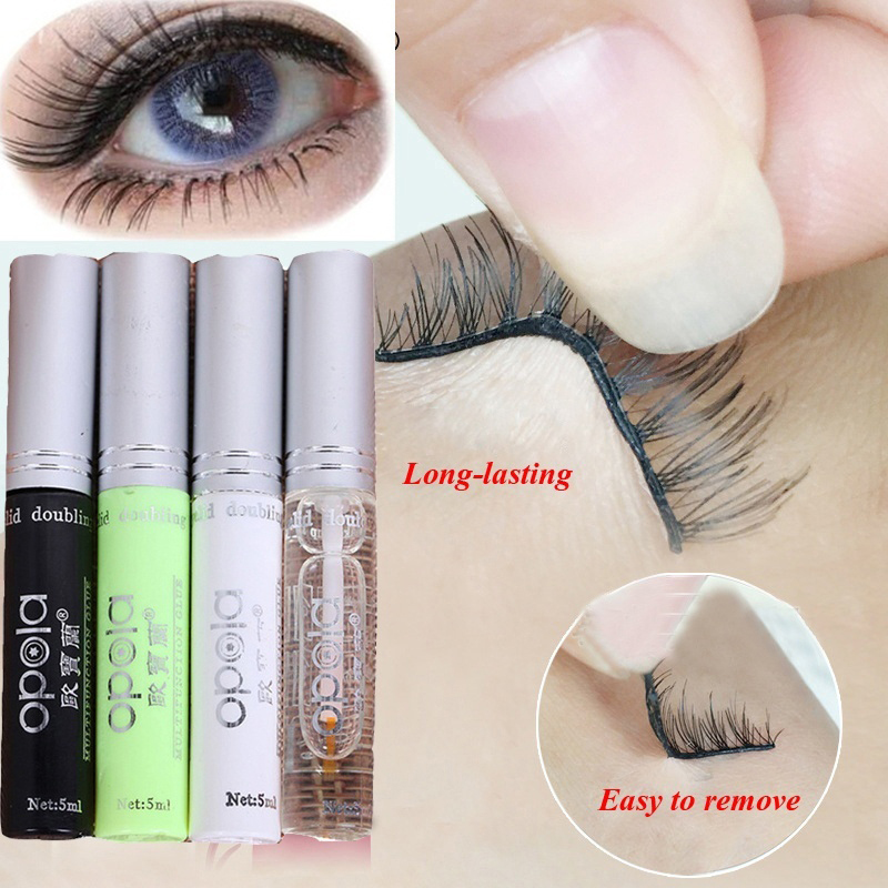 1PC False Eyelashes Makeup Adhesive False Eyelash Glue Clear-white Dark-black Waterproof Eye Lash Cosmetic Tools TSLM2