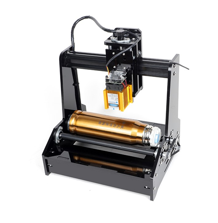 Mini DIY Cylindrical CNC Laser Engraver Machine For Bottle Cans Engraving  15W Can Work For Stainless Steel