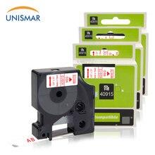 Unismar 3 шт. 40915 красный на белом 9 мм лента для маркировки Dymo LabelManager 160 280 210D PNP 420P 260 360D LabelWriter 450 400 принтер