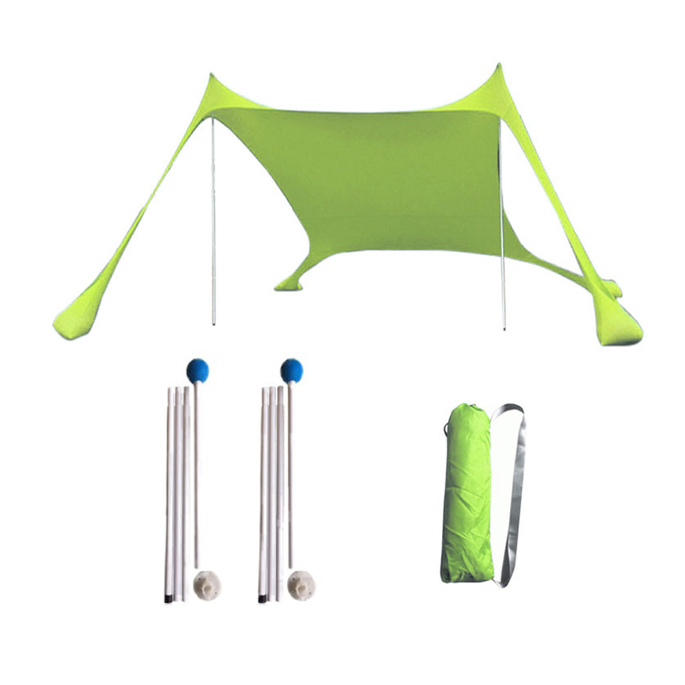 210x210x160CM Family Beach SunShade Beach Tent With Sandbag Anchors Lightweight Anti-UV Shade Tent For Parks & Outdoor Camping