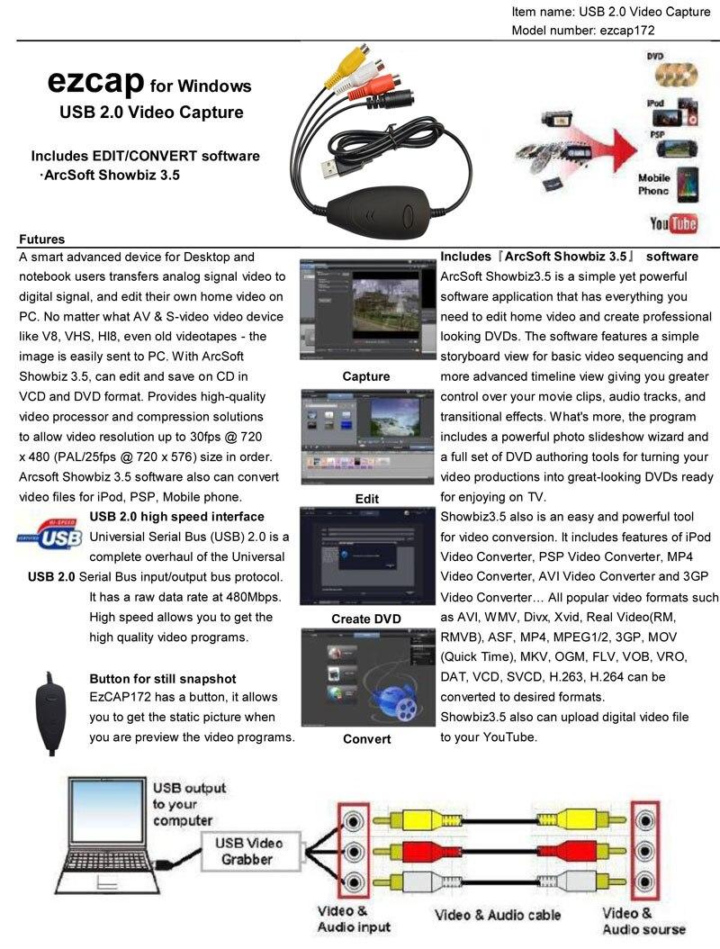 Spec for EzCAP172-1