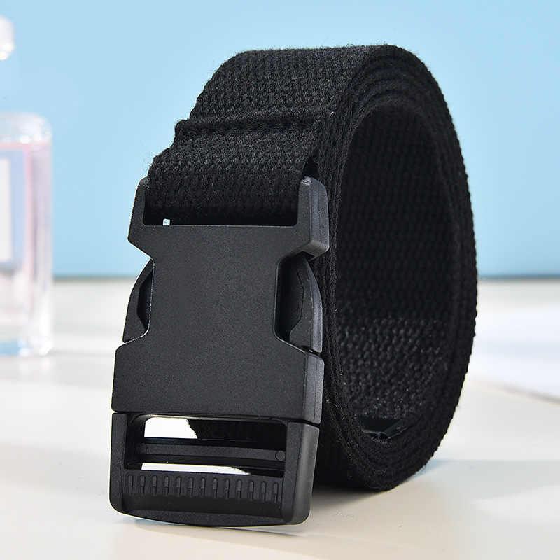 Mode Schwarz Leinwand Gürtel für Frauen Casual Weibliche Taille Gürtel mit Kunststoff Schnalle Harajuku Einfarbig Lange Gürtel Ceinture Femme