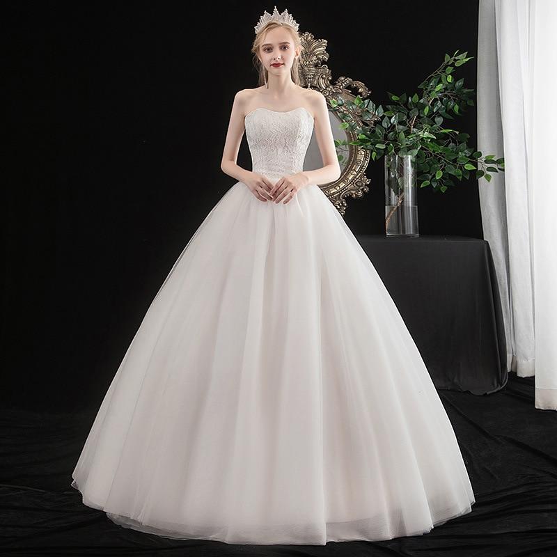 2019 Vestido De Noiva 2020 New Wedding Dress Bra Fashion Simple Korean Lace Princess Autumn And Winter Fairy Soft Women Layers