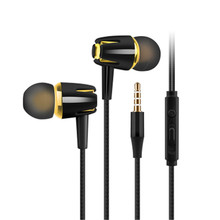 Universal Stereo Bass Earphone Headphone 3.5mm With Microphone Wired Control Voice Headset For Samsung Xiaomi Sports In-ear MP3