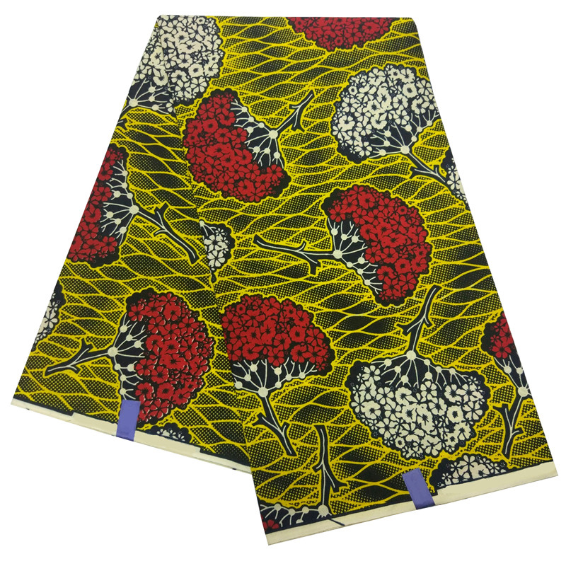 2019 New Ankara African Wax Veritable Real Dutch Wax Fabric Africa Prints Fabric High Quality Wax Cloth