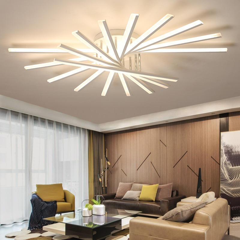 Nordic Living Room Bedroom Kitchen Design Of Modern Acrylic LED Chandelier Ceiling Decoration Home Lighting Lamp Light Gloss