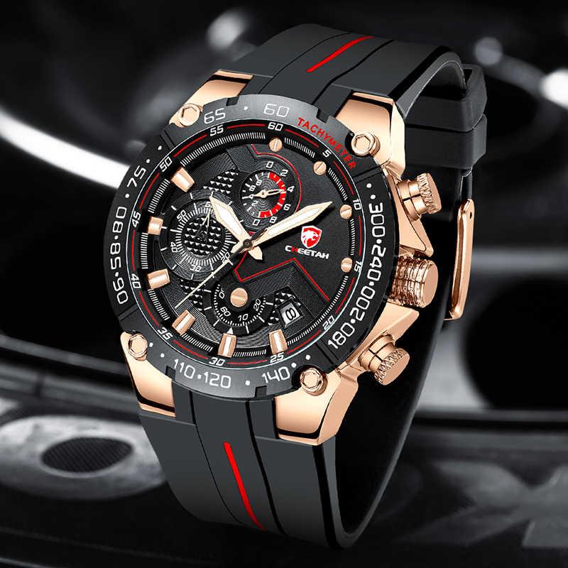 CHEETAH herren Uhren Top Brand Luxus Rose Gold Wasserdichte Quarzuhr Männer Mode Chronograph Männlichen Sport Military Armbanduhr