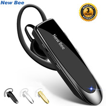 New Bee Bluetooth Earphones V5.0 Wireless Headphones Hands-free Headset 22H Music Earpiece with CVC6.0 Mic for Business/Driving