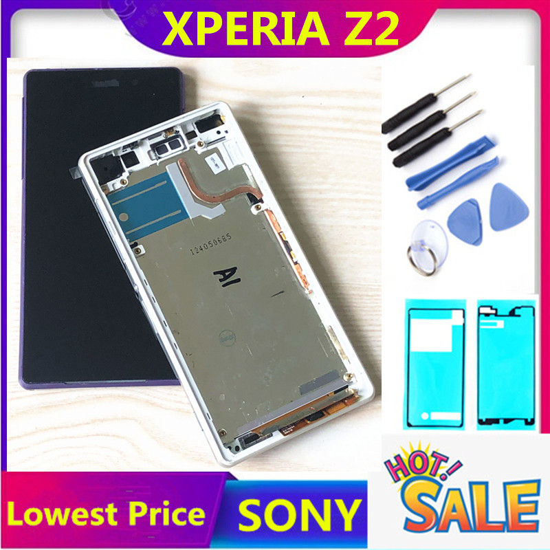 5.2'' D6502 D6503 D6543 LCD For SONY Xperia Z2 Display Touch Screen Digitizer Assembly For SONY Xperia Z2 LCD Frame Back Cover