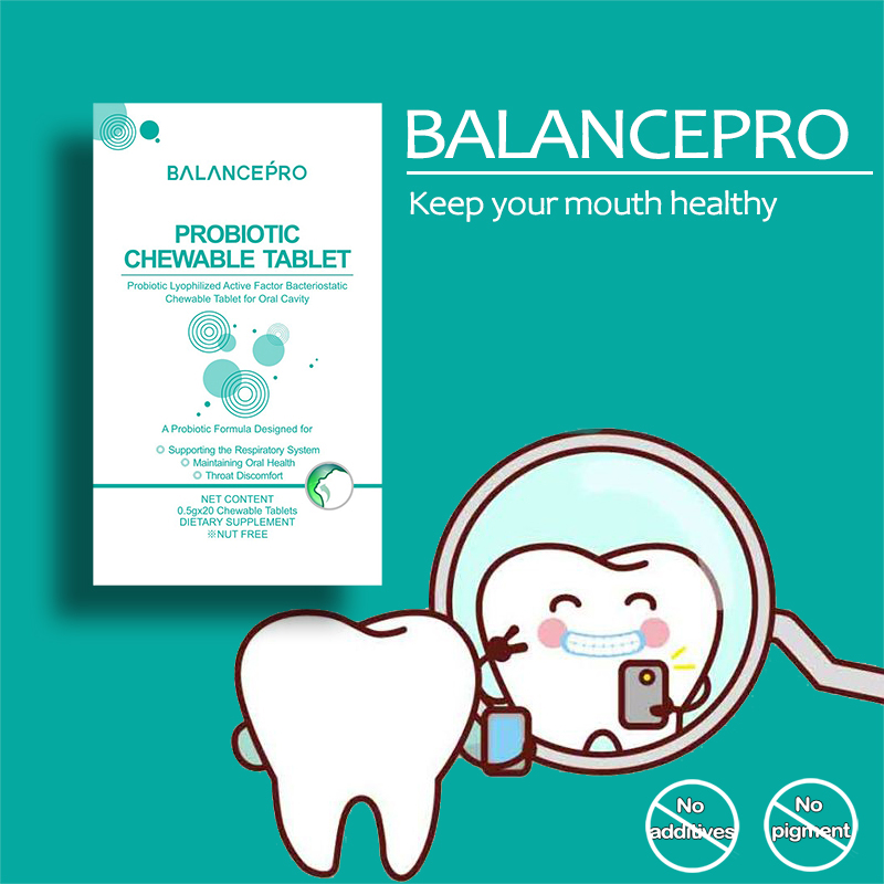 Balancepro New Upgrade Mouth Probiotic Chewable Tablet For Oral Health Smoking Throat Discomfort Bad Breath And Mouth Sores