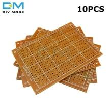 10 шт. универсальная печатная плата 5x7 см 5x7 2,54 мм DIY Прототип бумага печатная панель 5x7 см 50x70 мм 5x7