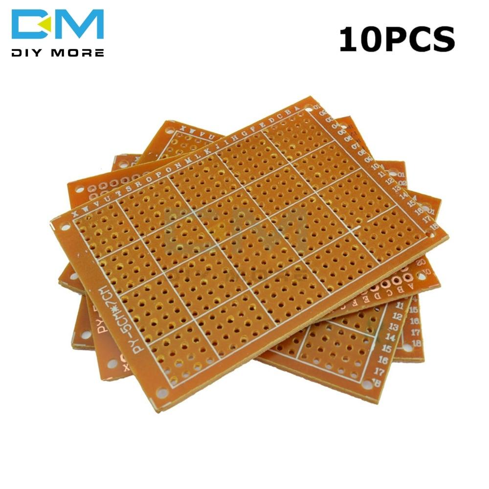 10PCS Universal PCB Board 5 X 7 Cm 5x7 2.54mm DIY Prototype Paper Printed Circuit Panel 5x7cm 50x70mm 5x7