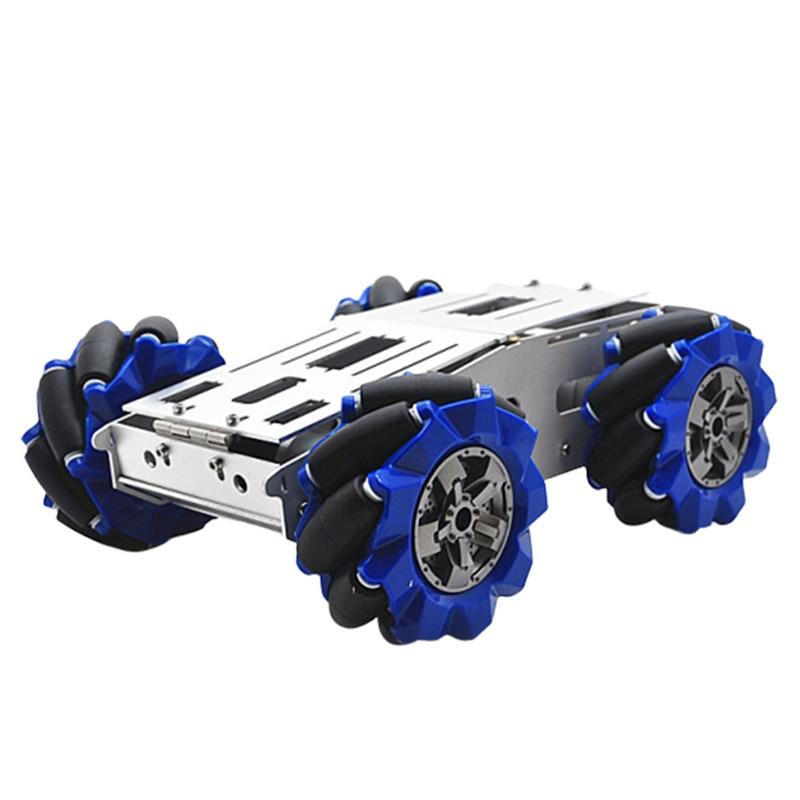 D-40 DIY Smart Aluminous RC Robot Car Chassis Base With 103mm Omni Wheels DC 12V Motor RC Robot Car Parts