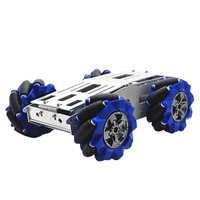D 40 DIY Smart Aluminous RC Robot Car Chassis Base With 103mm Omni Wheels DC 12V Motor RC Robot Car Parts