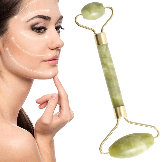 Jade Stone Roller Face Massager Double Head