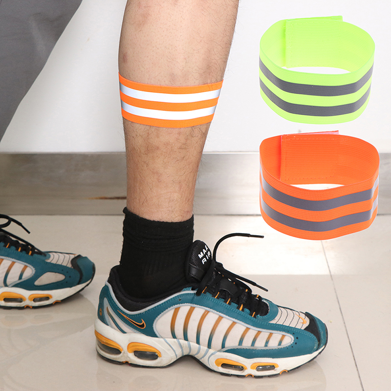 Reflective Strap Elastic Wrist Strap Ankle Leg Strap Safety Reflective Strap For Night Jogging Walking Biking