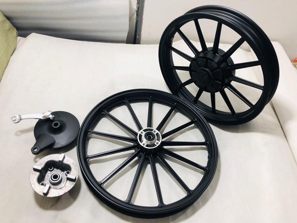 Black GN125 GS125 Front Rear Motorcycle Wheel Rims