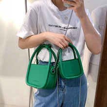2021 Trendy Mini PU Leather Crossbody Bags for Women Shoulder Totes Lady Female Luxury Chain Branded Handbags and Purses