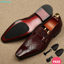QYFCIOUFU Flat Italy Handmade formal shoes men Fashion Party Wedding Office Male Dress Shoe Genuine Leather oxford shoes for men christia bella brand fashion men oxford shoes genuine leather business office men brogues gold wedding men dress shoes male flat