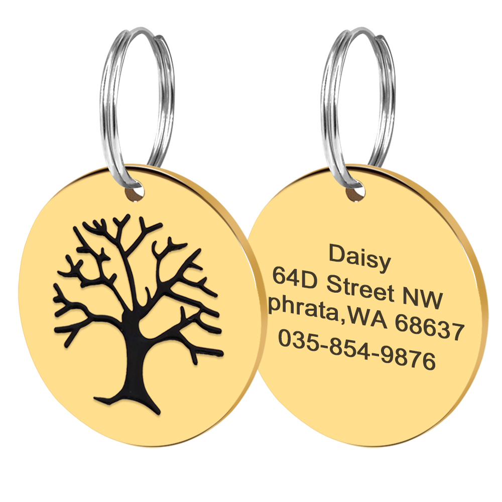 Collars, Harnesses & Leashes Dogs New Arrivals Customized I AM LOST PET ID Tag  My Pet World Store