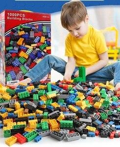 Image 1 - مجموعة مكعبات بناء كلاسيكية من eويلبيعت عدد 500/1000 قطعة من ألعاب التركيب الفني للمدينة
