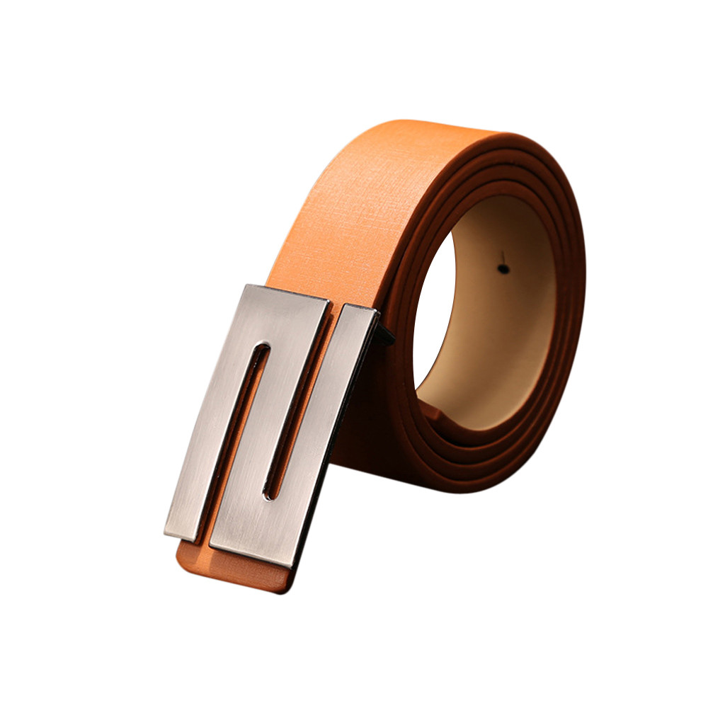 Womail 2019 Fashion Automatic Belt Women Smooth Buckle Leather Belts For Women Automatic  Leather Belts For Men High Quality
