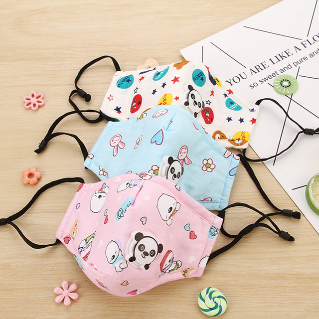 Kid Mouth Mask Dustproof Cartoon PM 2.5 Filter Mask Mouth Cover With Filter Pad For Children Face Mouth Anti Dust Masks Cover