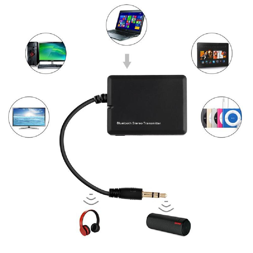 Partol Bluetooth 2.1+EDR Bluetooth Audio Transmitter 3.5mm Stereo HiFi Adapter Dongle For TV/PC/CD/DVD/iPod/MP3/MP4/PSP/PS3