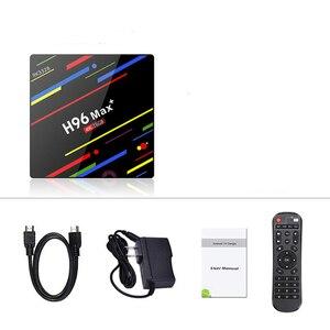 Image 5 - Wechip H96 ماكس زائد تي في بوكس أندرويد RK3328 4GB 64GB مشغل الوسائط دعم جوجل صوت عن بعد واي فاي تعيين صندوق علوي HD OTT الذكية