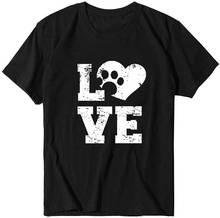 Женская футболка с надписью love Летние повседневные топы коротким