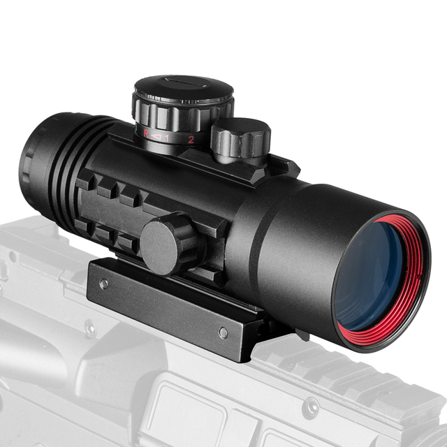 4X33 Green Red Dot Sight Scope Tactical Optics Riflescope Fit 11/20mm Rail Rifle Scopes for Hunting 4