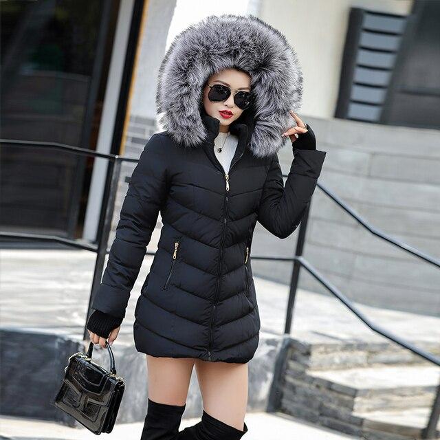 2020 artificielle fourrure de raton laveur col hiver veste femmes hiver et automne porter de haute qualité Parkas Outwear femmes longs manteaux 5