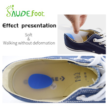 Soft Silicone Gel Insoles Height Increase Massage Cushion Foot Care Half Heel Insole Pad  for Heel Spurs Pain Foot Inserts недорого