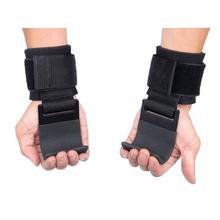 2PCS Weight Lifting Hook Hand Bar Grip Wrist Straps Glove Weightlifting Strength