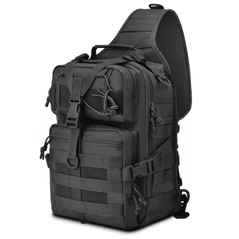 Outdoor Hiking Military Tactical Waist Pack Shoulder Sling Backpack Tote Bag