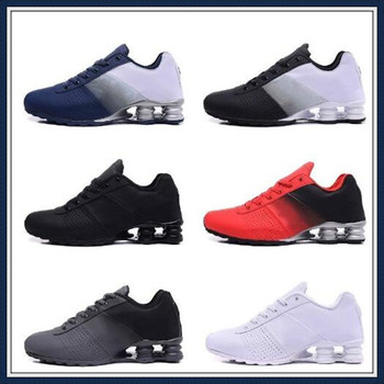 High quality 2020 New Shox Deliver 809 Men Running Shoes Cheap Famous DELIVER OZ NZ Men Sneakers Black White Blue Increased Air