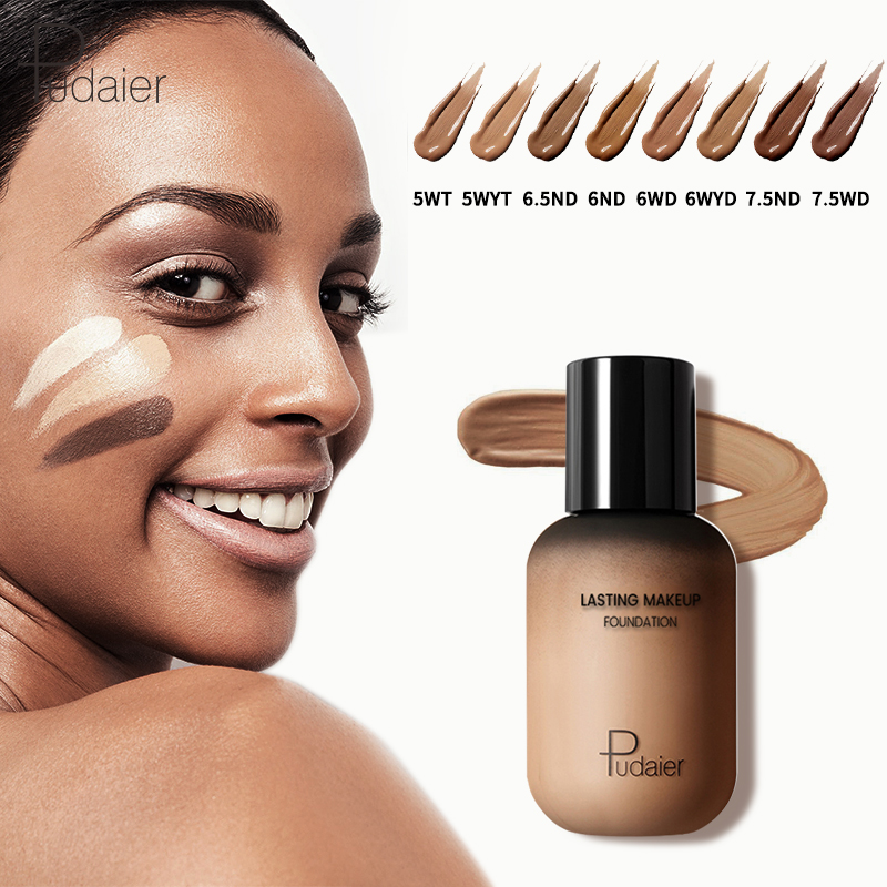 Pudaier 40ml Matte Makeup Foundation Cream for Face Professional Concealing Make up Tonal Base high coverage Liquid long-lasting image