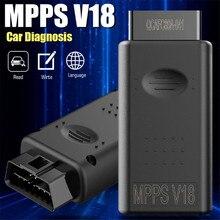 Escáner de ajuste de con Chip Ecu para coche, accesorio de seguridad, reconocimiento automático MPPS V18 TRICORE MULTIBO, 1 unidad