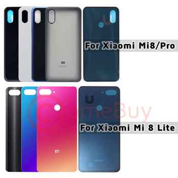 Back Glass Cover For Xiaomi Mi 8 Lite Battery Cover Door Mi8 Pro Rear Glass Housing Case For Xiaomi Mi 8 Lite Back Battery Cover for samsung galaxy note 8 n950 n950f n9500 back cover glass battery case rear door housing case back glass cover