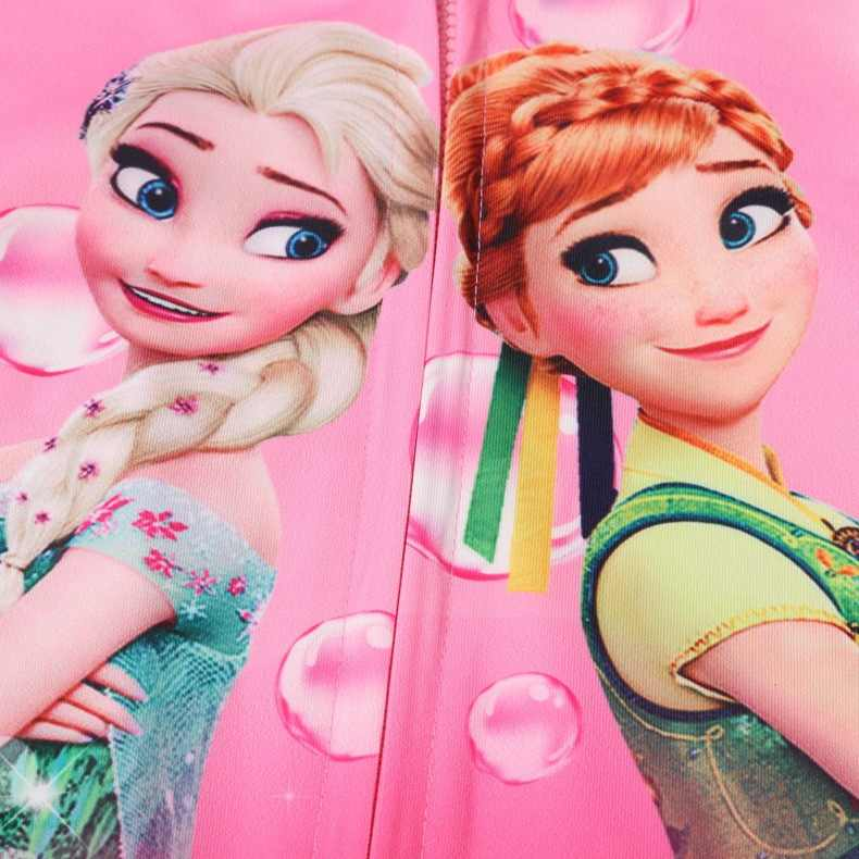 2019 nuevos abrigos de otoño para niñas anna elsa princesas lindas chaquetas con capucha ropa de abrigo para niños ropa de dibujos animados para niñas chaquetas