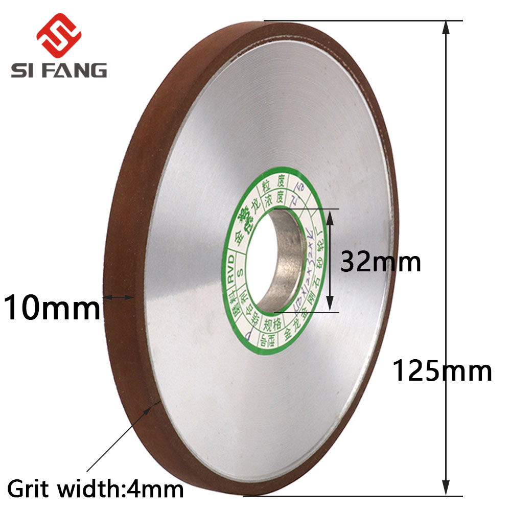 125mm Parallel Diamond Grinding Wheel Grinder Disc For Mill Sharpening Tungsten Steel Carbide Rotary Abrasive Tools