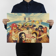 Poster Cartoon Mural Anime Collection One-Piece Character Children Dormitory Kraft Series